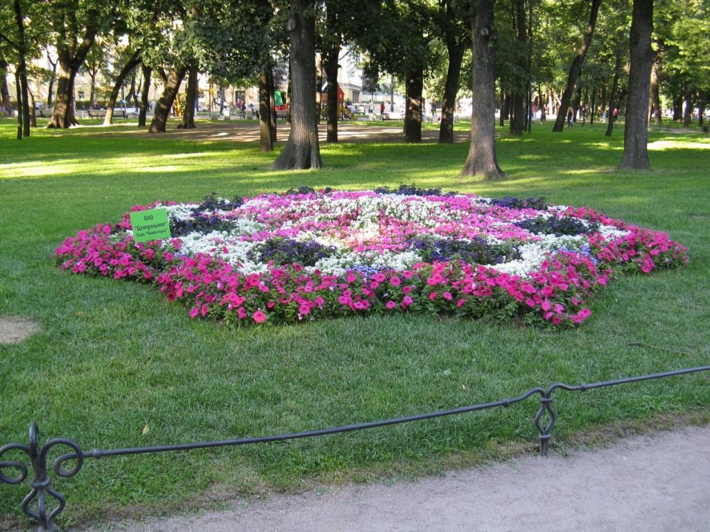 Александровский сад. Клумба