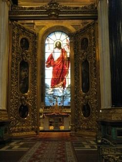Исаакиевский собор. Витраж