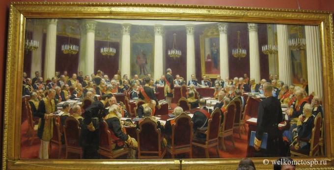 И.Е. Репин. Юбилейное заседание Государственного совета
