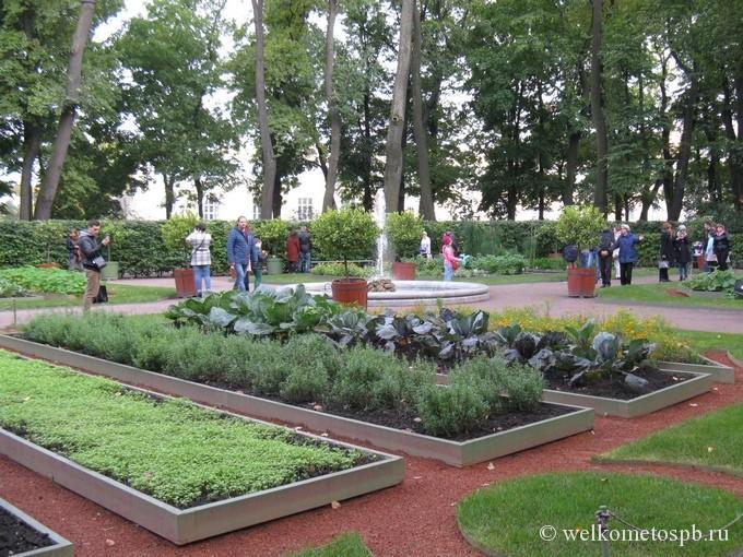 Красный сад перед оранжереей