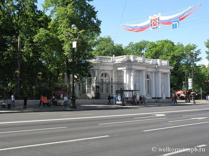 Павильон Аничкова дворца 28 мая