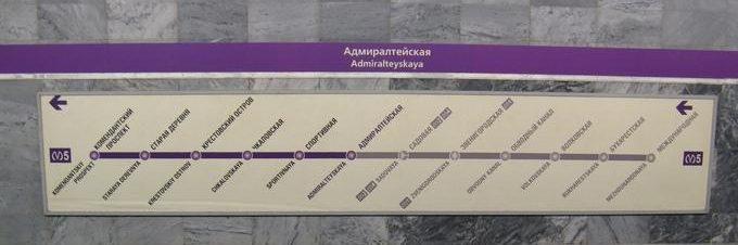 Схема станций линии М5